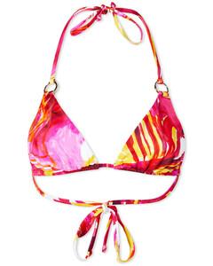 asymmetric striped panel skirt