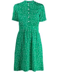 爱心印花衬衫裙
