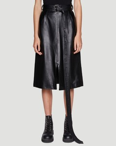 Leather Skirt in Black