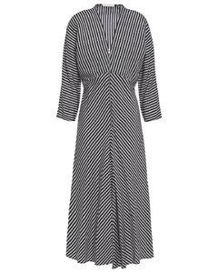 Rava striped twill midi dress