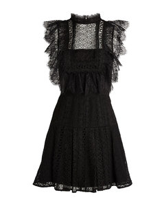 Lace Sleeveless Mini Dress
