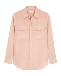 Slim Signature blush silk shirt