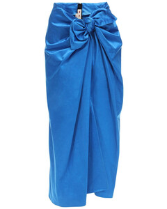 Draped Duchesse Skirt W/ Bow