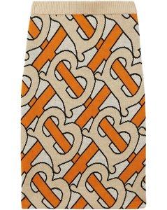 经典logo印花铅笔半身裙
