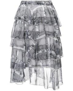 荷叶边层叠半身裙
