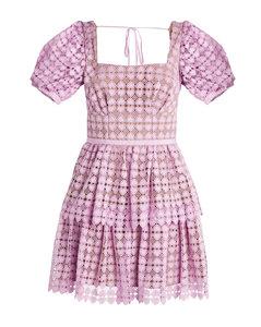Lace Tiered Mini Dress