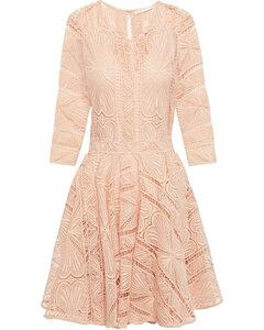 Ripiza flared guipure lace mini dress