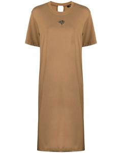 Black daisy-print skirt