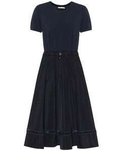 高科技面料中长连衣裙