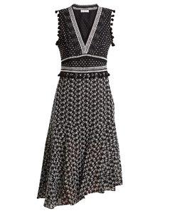 Eiffel V-neck broderie-anglaise dress