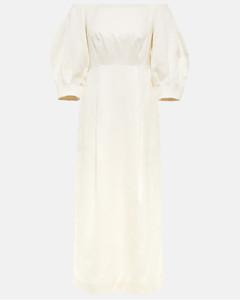 花卉棉质与真丝罩衫裙