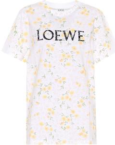 logo花卉棉质T恤