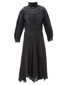Albane handkerchief-hem linen dress