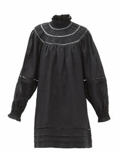 Adenia ladder-lace linen dress