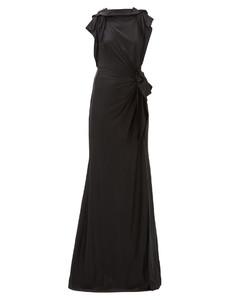 Summers draped cross-back satin dress