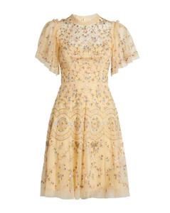 Sweet Petal Embellished Mini Dress