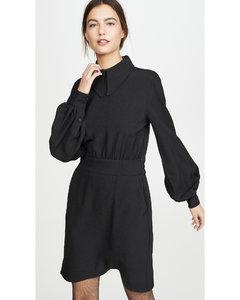 再生厚实绉绸平连衣裙