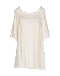 Macramé-panelled floral-print cotton gown