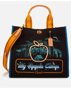 Women's Skyline Big Apple Camp Canvas Tote Bag 34 - Black