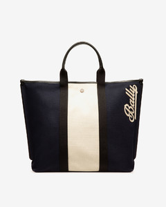 Women's cotton canvas tote bag in ink