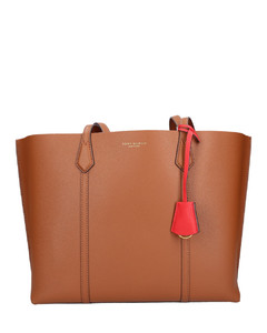 Shopper PERRY TOTE Calfskin Logo brown