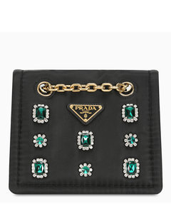 Jewel patch cross-body bag