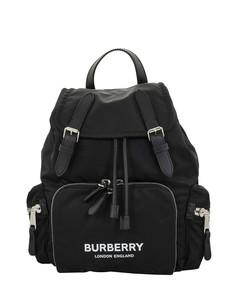 The Rucksack black medium backpack