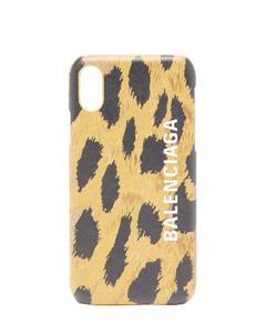 Cash leopard-print leather iPhone®X & XS case