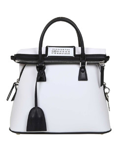 5AC small white leather bag