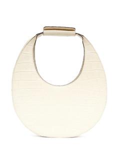 Moon small croc-embossed leather shoulder bag