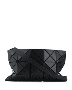 geometric panelled clutch