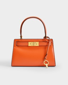 Lee Radziwill Petite Bag In Orange Leather