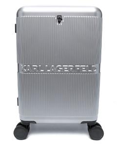slogan embroidered clutch bag
