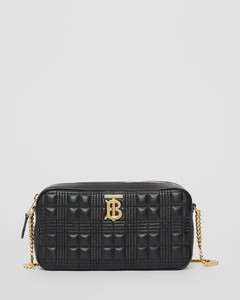 Quilted Check Lambskin Camera Bag