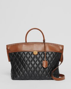 Quilted Lambskin Society Top Handle Bag