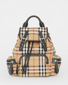 The Small Rucksack in Vintage Check and Leather