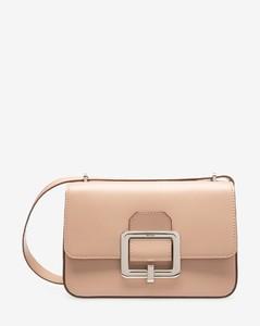 Women's calf leather shoulder bag in skin