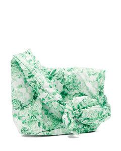 Knotted floral-print padded shoulder bag
