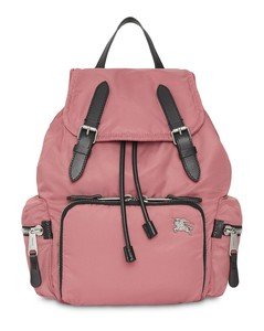 The Medium Rucksack in Puffer Nylon and Leather