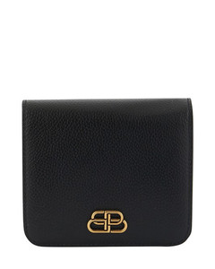 Compact BB leather purse