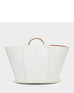 Small Tropicalia Bag In Smooth White Calfskin