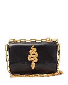 Maison Snake leather shoulder bag