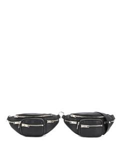 Mini Leather Attica Double Belt Bag