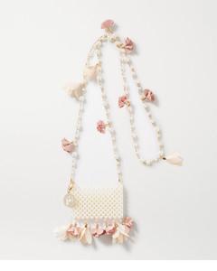 Calendula带缀饰金色人造珍珠单肩包