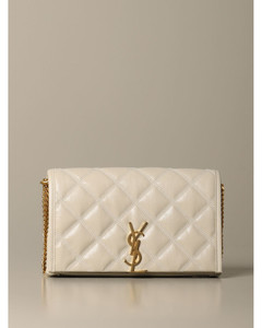 Becky chain wallet bag in quilted leather