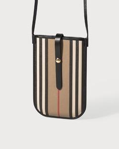 Icon Stripe E-canvas Phone Case with Strap