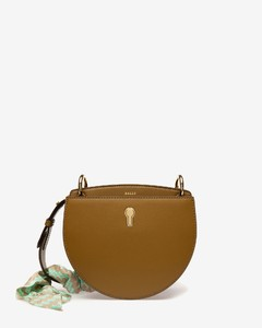 WOMENS PLAIN CALF LEATHER CROSS BODY IN BROWN