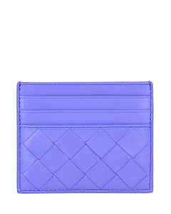 credit card holder in woven leather