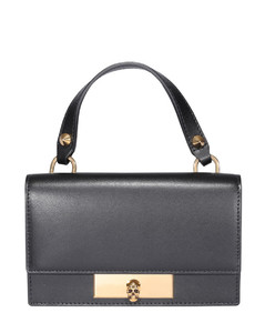 Leather bag with Skull fastening
