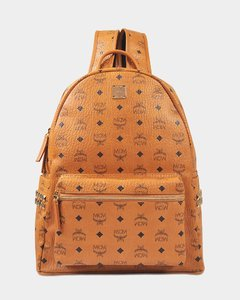 Stark Side Studs Medium Backpack In Cognac Synthetic Material